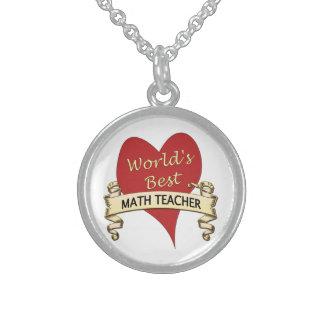 世界で最も最高のな数学の教師 スターリングシルバーネックレス