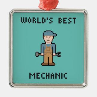 世界で最も最高のな整備士 メタルオーナメント
