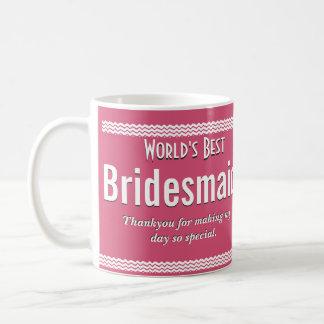 世界で最も最高のな新婦付添人 コーヒーマグカップ