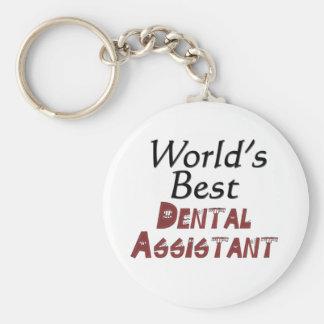 世界で最も最高のな歯科助手 キーホルダー