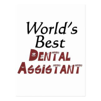 世界で最も最高のな歯科助手 ポストカード