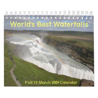"""世界で最も最高のな滝2009はカレンダーに記録します7つをx11 """" カレンダー"""