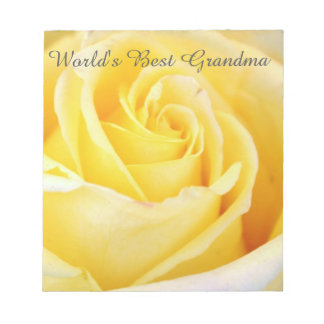 世界で最も最高のな祖母の黄色バラのメモ帳 ノートパッド