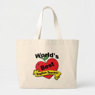 世界で最も最高のな英語の先生 ラージトートバッグ