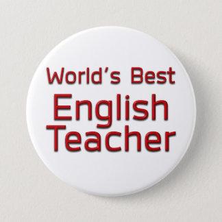 世界で最も最高のな英語の先生 7.6CM 丸型バッジ