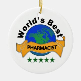 世界で最も最高のな薬剤師 セラミックオーナメント