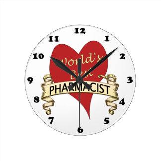 世界で最も最高のな薬剤師 ラウンド壁時計