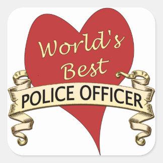 世界で最も最高のな警官 スクエアシール