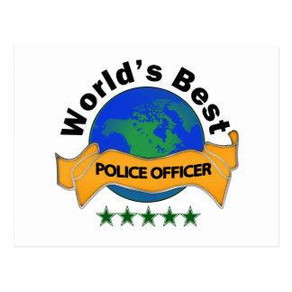 世界で最も最高のな警官 ポストカード