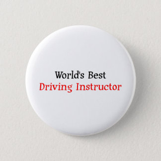 世界で最も最高のな運転インストラクター 5.7CM 丸型バッジ