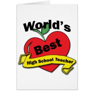 世界で最も最高のな高等学校の先生 カード