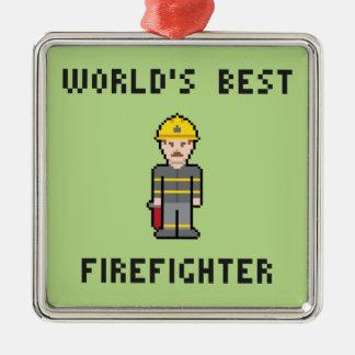 世界で最も最高のなFirefigher メタルオーナメント