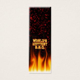 世界で最も熱いBBQの火および炎の赤は大理石模様をつけます スキニー名刺