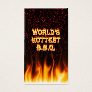 世界で最も熱いBBQの火および炎の赤は大理石模様をつけます 名刺