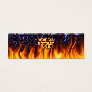 世界で最も熱いBBQの火および炎の青は大理石模様をつけます スキニー名刺