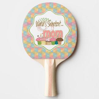 世界で最も甘いお母さんのカップケーキの版パターン 卓球ラケット