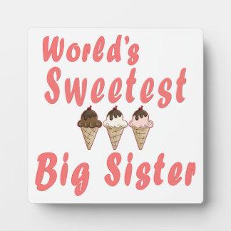 世界で最も甘い姉のアイスクリームコーン フォトプラーク