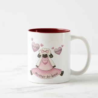世界で最も甘い義母の母の日のギフト ツートーンマグカップ