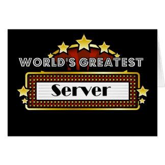 世界で最も素晴らしいサーバー グリーティングカード