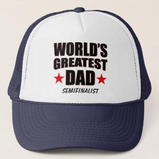 世界で最も素晴らしいパパの準決勝出場選手のトラック運転手の帽子 キャップ