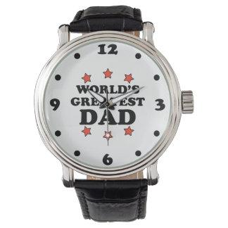 世界で最も素晴らしいパパの黒のヴィンテージ革腕時計 腕時計