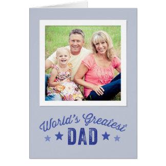 世界で最も素晴らしいパパ|の父の日の写真カード グリーティングカード