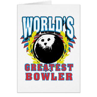 世界で最も素晴らしいボウリングをする人、クリケットの投手 カード