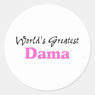 世界で最も素晴らしいDama ラウンドシール