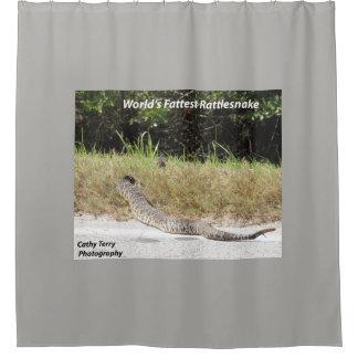 世界で脂肪質のガラガラヘビのシャワー・カーテン シャワーカーテン