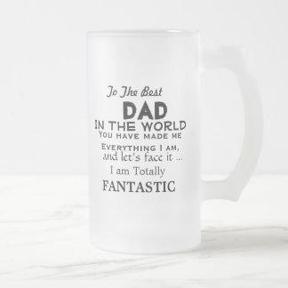 世界のおもしろいな父のギフトの最も最高のなパパ フロストグラスビールジョッキ