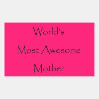 世界のお母さんのための最も素晴らしい母デザインのギフト 長方形シール