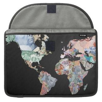 世界のお金-通貨のラップトップカバー袖 MacBook PROスリーブ