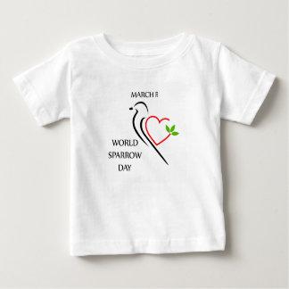 世界のすずめ日3月20日 ベビーTシャツ