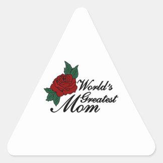 世界のすばらしいお母さん 三角形シール