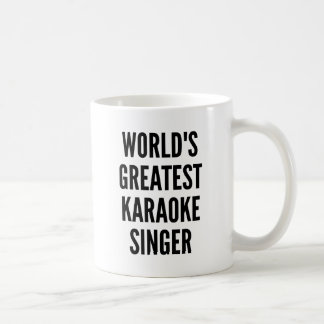 世界のすばらしいカラオケの歌手 コーヒーマグカップ
