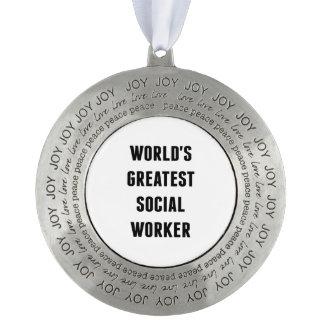 世界のすばらしいソーシャルワーカー オーナメント