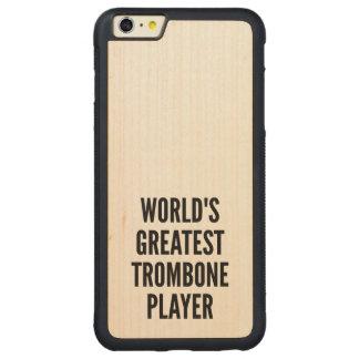 世界のすばらしいトロンボーンプレーヤー CarvedメープルiPhone 6 PLUSバンパーケース