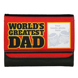 世界のすばらしいパパはあなたの写真の札入れを加えます