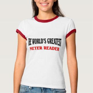 世界のすばらしいメートル読者 Tシャツ