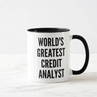 世界のすばらしい信用分析家 マグカップ