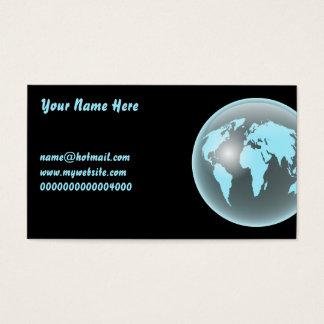 世界のガラス地球、ここのあなたの名前、 名刺