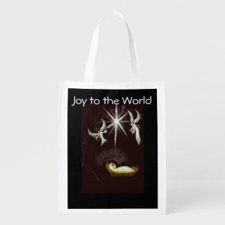 世界のクリスマスのギフトへの喜び エコバッグ