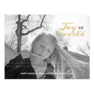 世界のクリスマスの写真のモダンの休日への喜び ポストカード