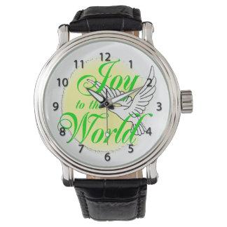 世界のクリスマスの腕時計への喜び 腕時計