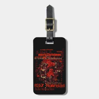 世界のクリスマスのFeliz Navidad Noelの荷物のラベル ラゲッジタグ
