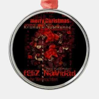 世界のクリスマスFeliz Navidad Joyeux Noel - メタルオーナメント