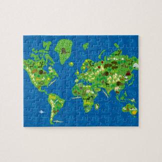 世界のジグソーパズルの動物群 ジグソーパズル