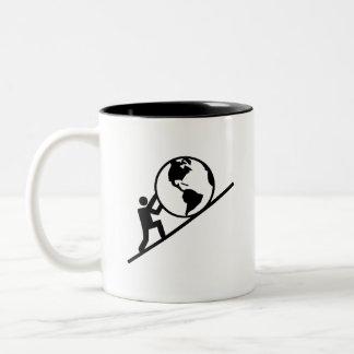 世界のピクトグラムのマグの重量 ツートーンマグカップ