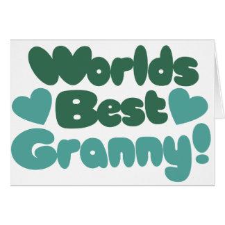世界のベストのおばあさん カード