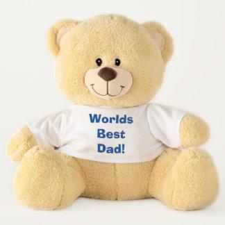 世界のベストのパパ! パパのための素晴らしいギフト テディベア